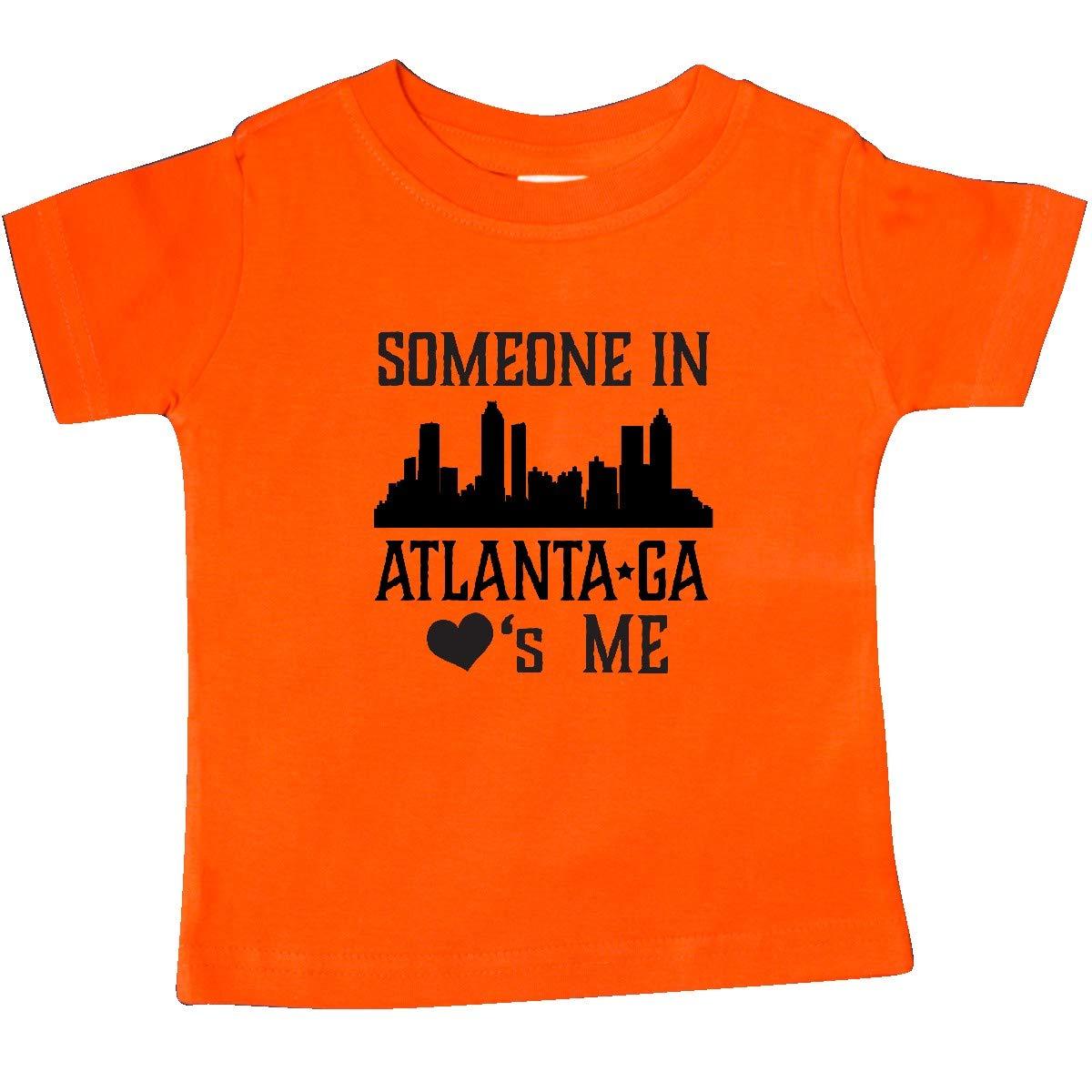 inktastic Atlanta Georgia Someone Loves Me Skyline Baby T-Shirt