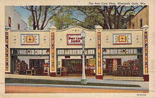 Wisconsin Dells Wisconsin Post Card Shop Street View Antique Postcard - Wisconsin Shops Dells