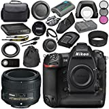 Nikon D5 DSLR Camera (Dual CF Slots) #1558 AF-S 50mm f/1.8G Lens 2199 + 58mm 3 Piece Filter Kit + Mini HDMI Cable + Carrying Case + Multi Purpose USB card Reader + Hand Strap Bundle