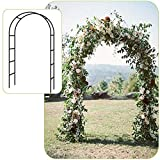 Seeutek Lightweight Metal Garden Arch, 4' 6'' Wide x 7' 11'' High Garden Arbor for Various Climbing Plant, Lawn Backyard, Wedding Party Decoration