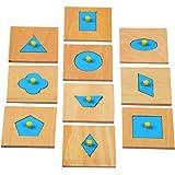MagiDeal Bois Figure Géométrique En Forme De Puzzle Enfant D'âge Préscolaire Jouet