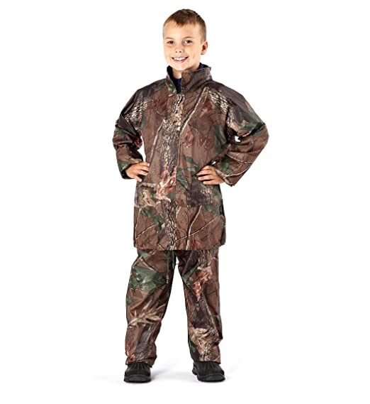 0a09d9a689be Pro Climate 2025 Childrens Camo Waterproof Suit  Amazon.co.uk  Clothing