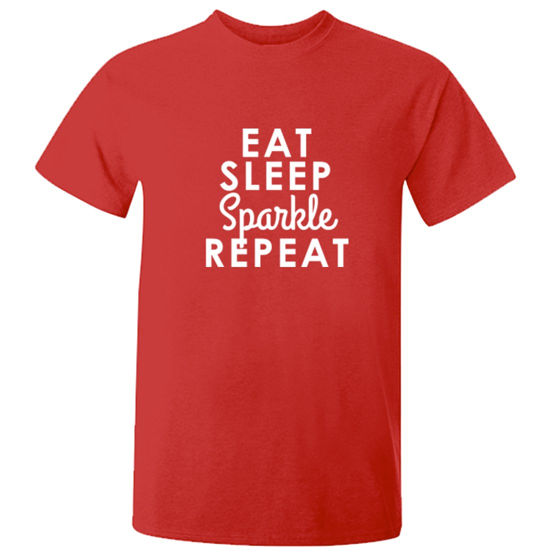 Illustrated Identity Eat Sleep Sparkle repeat Short Sleeve t-Shirt Ages 3/4-12/14