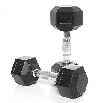 Bodypower - Cierre, Ergo mancuernas hexagonales de caucho - 7 kg (X2): Amazon.es: Deportes y aire libre