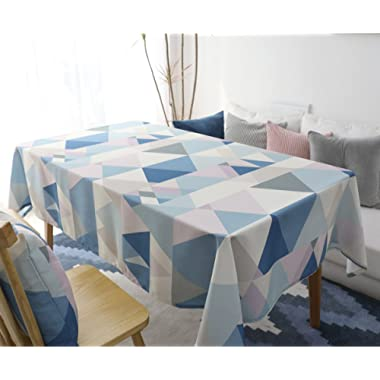 Yanyi Rectangle Polyester Cotton Tablecloth, Water Resistance Dining Table Cloth for Home Hotel Cafe Restaurant, Heat Moisture Resistance Indoor Outdoor Table Covers (39 x 55 inches / 100 x 140 cm)