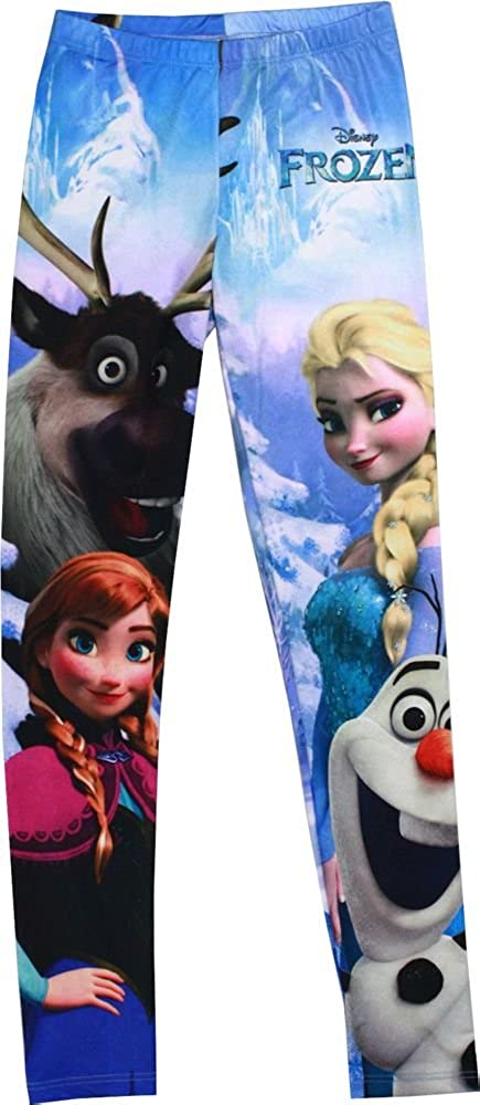 Mighty Fine Disney Frozen Group Shot Girls Leggings, Large