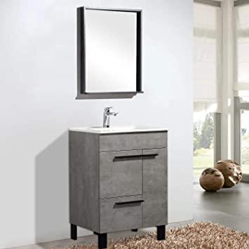 Tona 24 Bathroom Vanity With Sink Combo Glossy White Modern Design Bathroom Vanities Set With Double Doors One Drawer And Integrated Basin Gill 24 Amazon Com