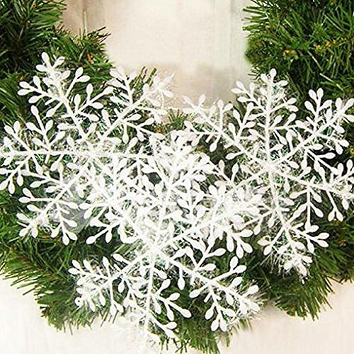 AutumnFall® 30Pcs New Classic White Snowflake Ornaments Christmas Holiday Party Home Decor (Winter Party Decor)