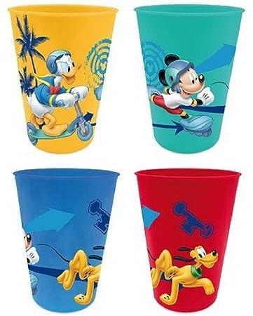 for-collectors-only Minnie Mouse Becher Set 4 Trinkbecher Plastik Kinder Saftbecher Disney Minnie Maus /& Daisy Duck