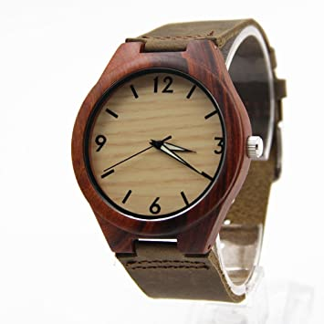 Shou&bz Los hombres relojes madera nueva / ocio y negocio / natural de la madera /