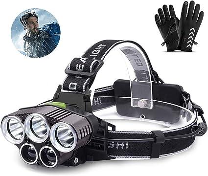 6 LED Headlamp Head Torch Headlight Hiking Camping Running dog walk Waterproof