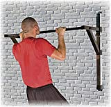 Power Systems Adjustable Wall-Mounted Chin-Up/Pull-Up Bar, 350 Pound Capacity, 51.25 x 36 Inches, Black (40065)