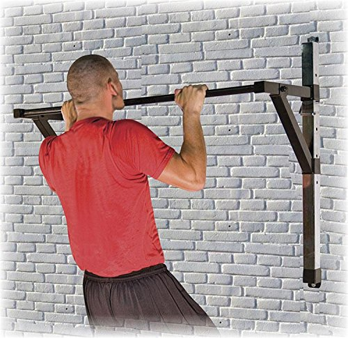 Power Systems Adjustable Wall-Mounted Chin-Up/Pull-Up Bar, 350 Pound Capacity, 51.25 x 36 Inches, Black (40065) by Power Systems