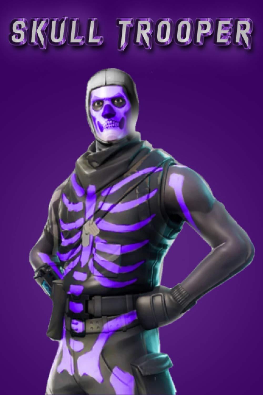 Fortnite Skull Trooper Purple Notebook Skull Trooper Purple Og Skin Lined Notebook Art Ag Fremdsprachige Bücher