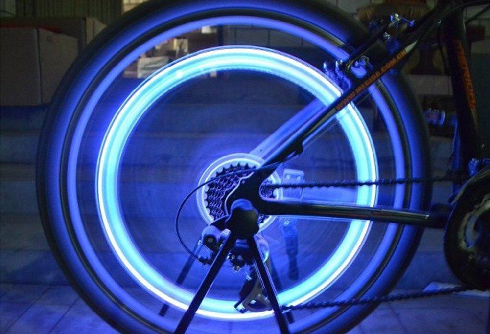 5/paio LED flash/ luci ruota di bicicletta impermeabile per auto bici /Kit luci Tookie colorato rotella valvola della luce