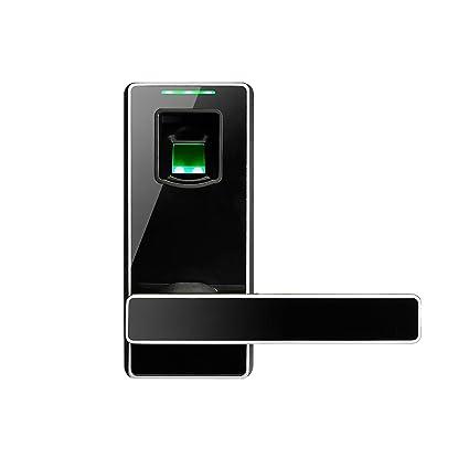 ZKTeco Cerradura Electronica Cerradura de Puerta con Huella Digital Biométrica sin Llave Inteligente con Manija