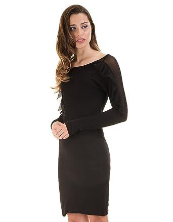 Vestido negro corto de Vila Clothes (S - Negro)