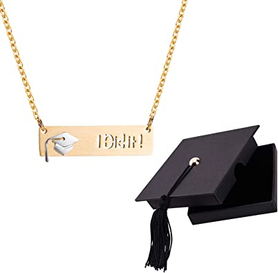 Graduation Necklace for Her 2020.Best Friend Necklace Friendship Pendant Chain Necklace with Gift Card