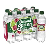 Poland Spring Sparkling Natural Spring Water, Raspberry Lime, 16.9 Ounce, 8 Count