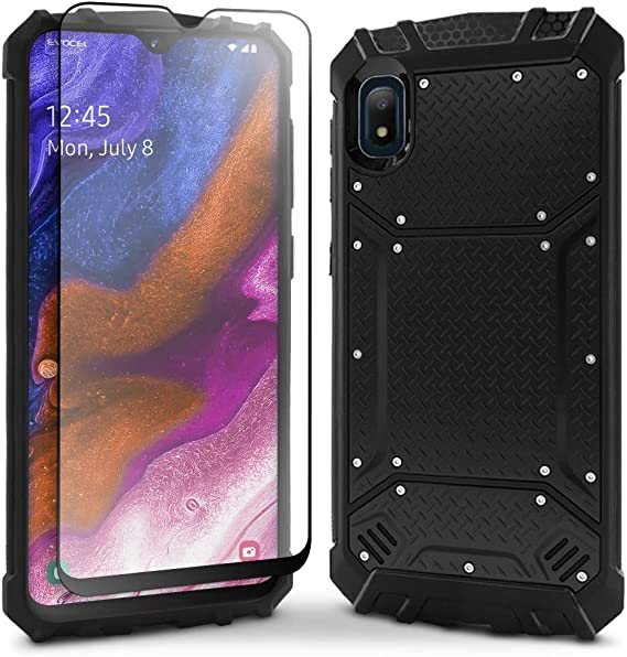 Evocel Galaxy A10E Case with HD Screen Protector and Belt Clip Holster for Samsung Galaxy A10E Black