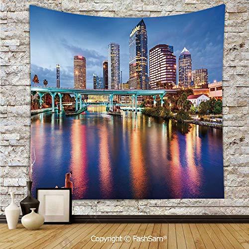 FashSam Polyester Tapestry Wall Hillsborough River Tampa Florida