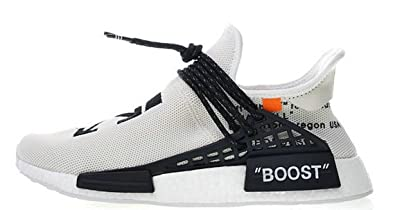 Off White Pharrell NMD Hu Race Trail White BB7725 Chaussures