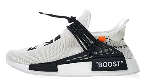 brand new 92672 69c03 Off-White Pharrell NMD Hu Race Trail White BB7725 Herren ...
