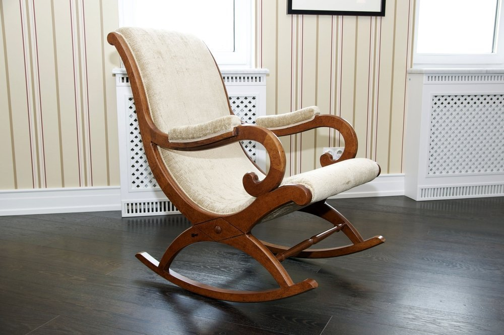 Craftatoz Rocking Chair Aaram Chair Wooden Rocking Chair With Cushion For Living Room Home Decor Garden Lounge