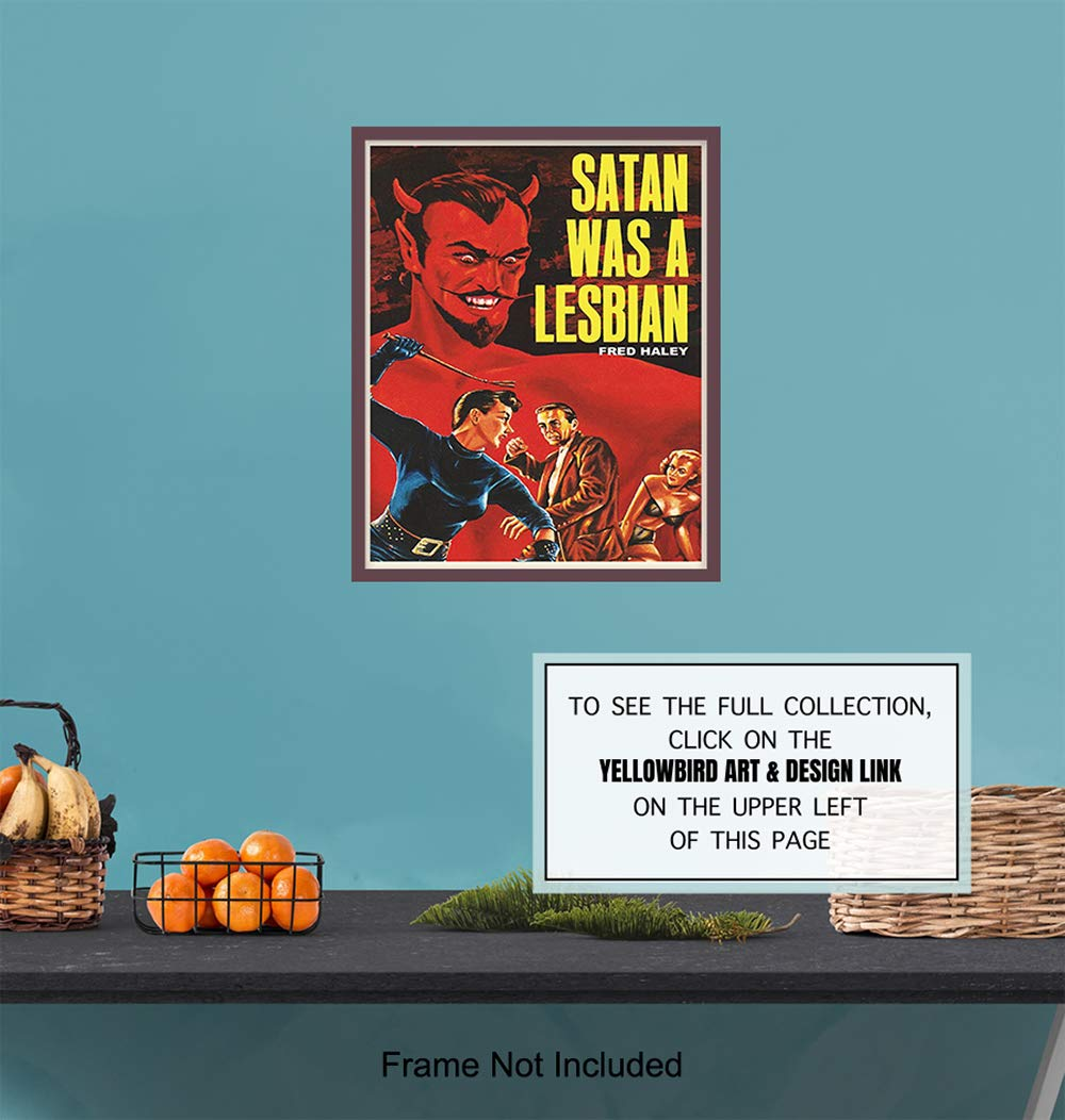 Vintage Movie Wall Art Print Makes a Great Gay Chic Home Decor LGBTQ Satan Was A Lesbian Poster Queer Gift 8x10 Photo Unframed