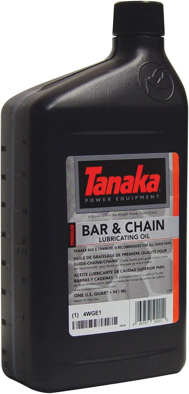 Tanaka 700320 Commercial Grade 1-Quart Bar & Chain Oil : Chain Saw Bar And Chain Oil : Garden & Outdoor