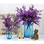 JAKY-Global-Babys-Breath-Fabric-Cloth-Artificial-Flowers-4-Bundle-European-Fake-Silk-Plants-Decor-Wedding-Party-Decoration-Bouquets-Real-Touch-DIY-Home-GardenPurple