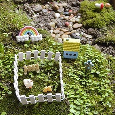 DIY Miniature Fairy Garden Wood Fence Doll House Ornaments Decor Accessories