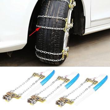 M KIMISS 3 St/ück Reifen Anti Rutsch Stahl Kette Schnee Schlamm Auto Sicherheit Reifen Clip on Kette