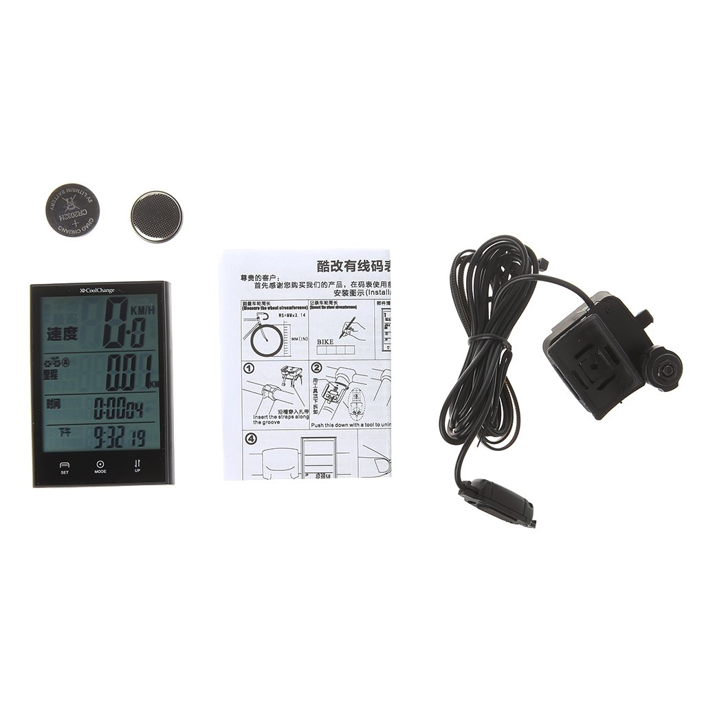 ULKEME Bikes Computer Waterproof Wired Speedometer Multifunction LCD Cycling Odometer by ULKEME (Image #1)
