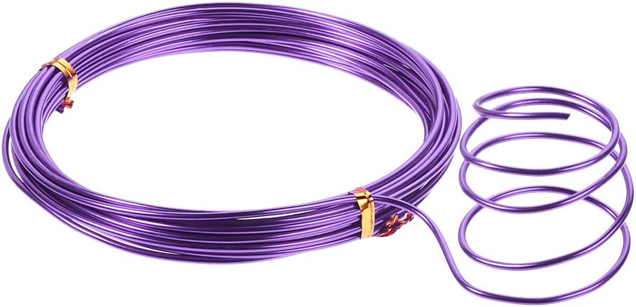 Flexible Metal Wire Purple for DIY Arts Crafts uxcell Aluminum Wire 16 Feet 2mm Dia