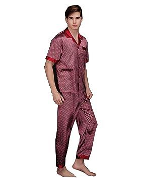 de los hombres Conjuntos de pijama Primavera y otoño Suit Collar Long Sleeves + Trousers Ropa