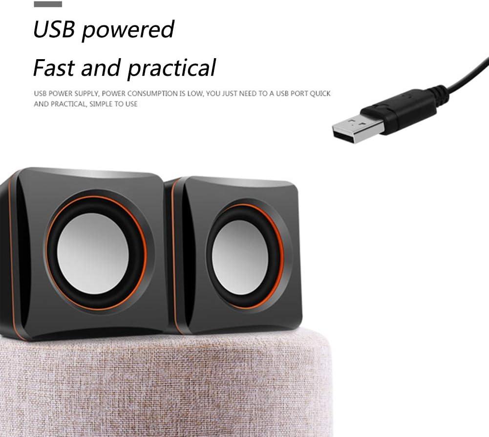 interfaccia USB Mini Altoparlanti ABS Materiale LCL Notebook Speakers Tre-Tone Balance Nero per PC e TV e MP3 // 4 e telefoni cellulari