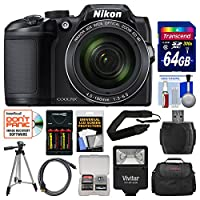 Nikon Coolpix B500 Wi-Fi Digital Camera with 64GB Card + Case + Flash + Batteries & Charger + Tripod + Strap + Kit