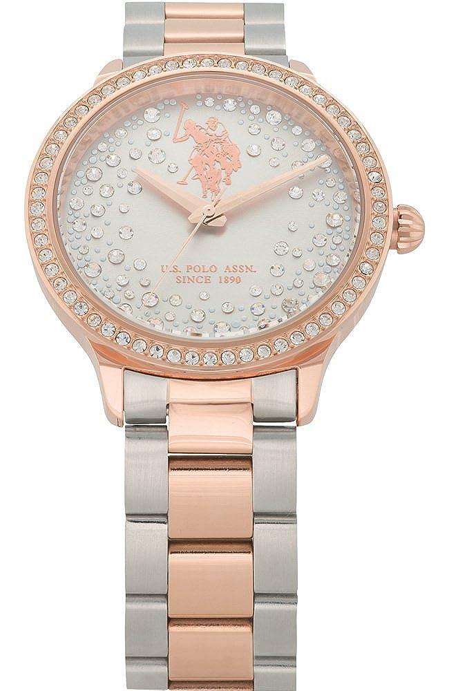 US Polo Association Reloj Analógico para Mujer de Cuarzo con ...