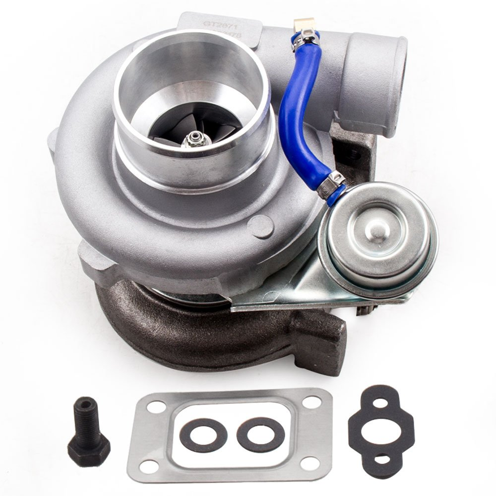 GT2871 GT2871R GT2860 SR20 CA18DET Upgrade Turbo Tubocharger 400+HP 0.6 A/R 0.64 A/R 5-Bolt Flange Universal Oil+Water Cooling
