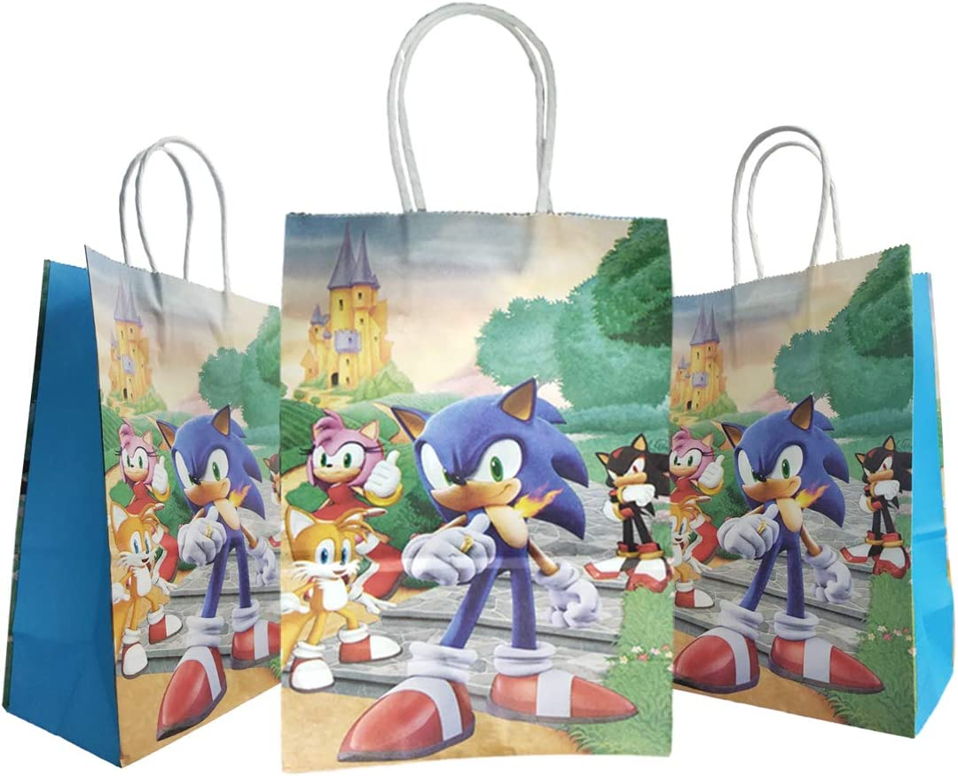 Amazon Com 12 Pcs Sonic The Hedgehog Gift Bags Sonic The Hedgehog Party Supplies Health Personal Care