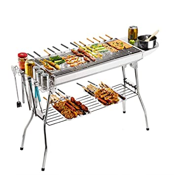 FYLD Conveniente Exterior BBQ,Inoxidable Parrillas,Barbacoas ...