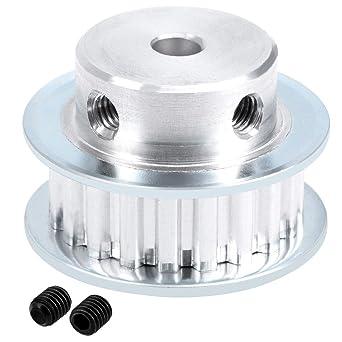 sourcing map Aluminio XL 20 Dientes de 6 mm de diámetro Polea de ...
