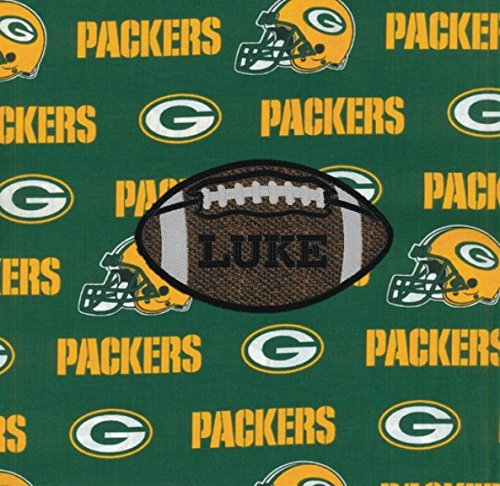 - Green Bay Packers Football Fabric Personalized Pillow