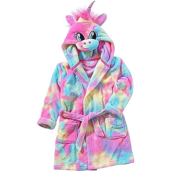 Robe De Chambre Peignoir De Bain Fille Animal Crazy Polaire Douillet