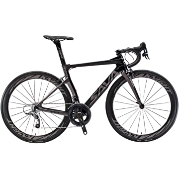 powerful SAVADECK Phantom 5.0 700C Carbon Fiber Road Bike Cycling Bicycle with SRAM Force 22 Speed Group Set Hutchinson 25C Tire and Fizik Saddle