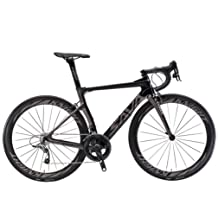 SAVADECK Phantom 5.0 700C Carbon Fiber Road Bike Cycling Bicycle with SRAM Force 22 Speed Group Set Hutchinson 25C Tire and Fizik Saddle