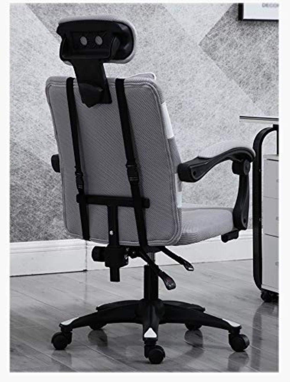 Skrivbordsstolar kontorsstol datorstol huvudstol nätstol lyftstol student stol spelstol kontor (färg: Röd) Röd