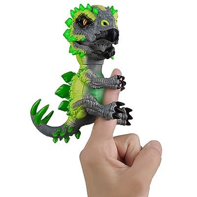 WowWee Untamed Radioactive Stegosaurus - Whiplash (Green)- Interactive Toy: Toys & Games