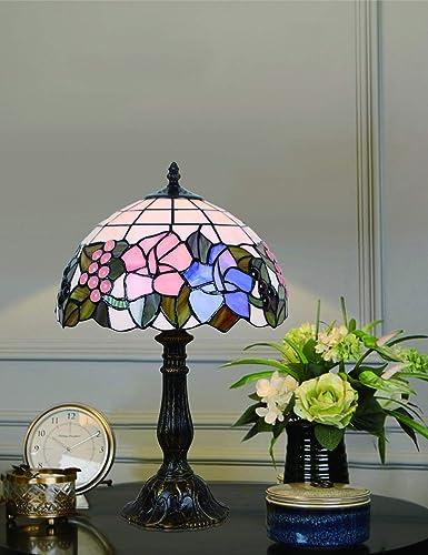 Luz de cabecera de la lámpara de mesa floral de sobremesa ...